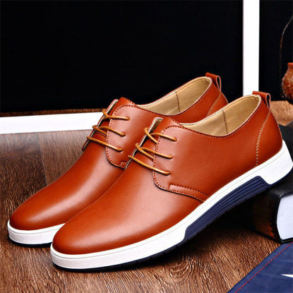 Picture of Men's Leather Casual Driving Shoes