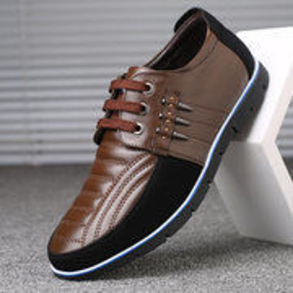Picture of Men's Leather Non-slip Casual Driving Shoes