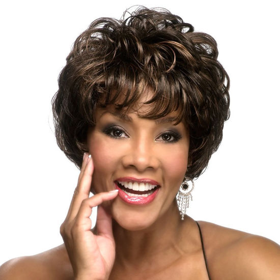 Picture of Fashionable Fiber Bouffant Short Curly Wig