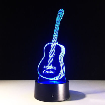 Picture of Guitar 3D Visual Led Night Light
