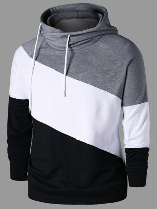 Picture of Raglan Sleeve Drawstring Neck Hoodie