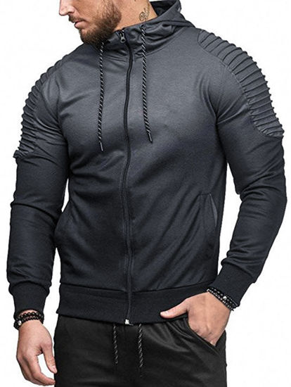 Picture of Sports Shoulder Pleated Hoodie