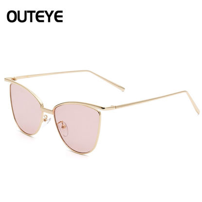 Picture of Gold Retro Cat Eye Sunglasses