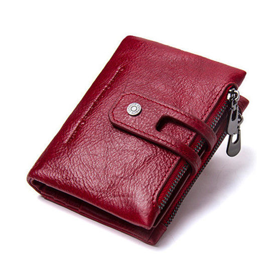 Picture of Retro Genuine Leather Multi-slots Short Wallet