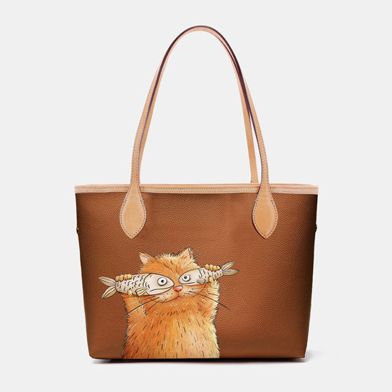 Picture of 2 PCS Cat Pattern Tote Shoulder Bag