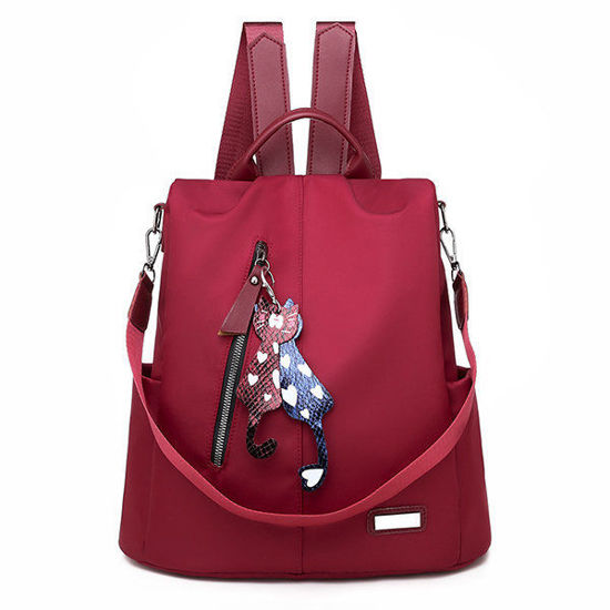 Picture of Anti-theft Solid Oxford School Backpack Travel Shoulder Bag
